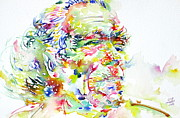 Picture Paintings - Charles Bukowski Portrait.1 by Fabrizio Cassetta