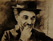 Hitler Paintings - Charles Chaplin by Ashok Karnik