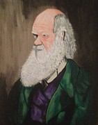 Scott Wilmot Framed Prints - Charles Darwin  Framed Print by Scott Wilmot