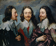 Famous Artists - Charles I by Sir Anthony Van Dyck