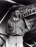 Bolling Photos - Charles Lindbergh  1927 by Daniel Hagerman