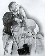 Morgan Drawings Posters - Charles Mingus Poster by Michael Morgan