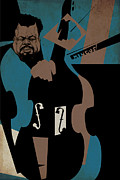 Caricature Mixed Media - Charles Mingus by Thomas Seltzer