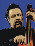 Male Portraits Digital Art Posters - Charles Mingus Poster by Walter Neal
