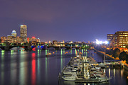New England Marina Park Prints - Charles River Country Club Print by Joann Vitali