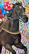 Kentucky Derby Mixed Media Prints - Charles Town Downs Print by Michael Lee