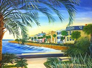 Charleston Houses Paintings - Charleston Battery by Shelia Kempf