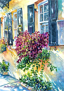 Charleston Houses Paintings - Charleston Bouquet by Alice Grimsley