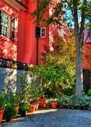 Courtyards Prints - Charleston Charm 3 Print by Mel Steinhauer