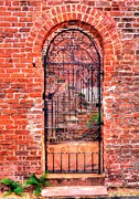 Red Bricks Prints - Charleston Charm 5 Print by Mel Steinhauer
