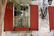 Window Box Prints - Charleston French Quarter II Print by Suzanne Gaff