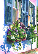 Flower Boxes Paintings - Charleston Nosegay by Alice Grimsley