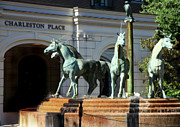 Art Sculptures Photos - Charleston Place by Karen Wiles