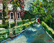 Charleston Houses Paintings - Charleston Red Door by Joe Byrd