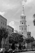 Palmetto Photos - Charleston Series in Black and White by Suzanne Gaff