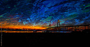 Series Pyrography - Charleston Sky  by Gib LaStrapes