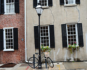 Photography Of Lamps Photos - Charleston South Carolina Historic District Homes by Kathy Fornal