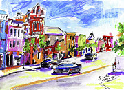 Charleston Houses Prints - Charleston South Carolina Kind Street Print by Ginette Callaway