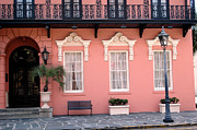 Romantic Roses Photography Photos - Charleston South Carolina - The Mills House - Art Deco Architecture by Kathy Fornal