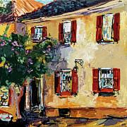 Ginette Fine Art LLC Ginette Callaway - Charleston South Carolina Yellow House on Chalmers Street