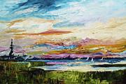 Charleston Sunset Uss Yorktown Print by Ginette Fine Art LLC Ginette Callaway