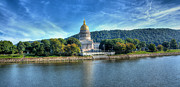Capitol Building Photos - Charleston West Virginia Capital Building by Todd Hostetter