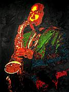 Jazz Painting Originals - Charlie Bird Parker by Ronald Young