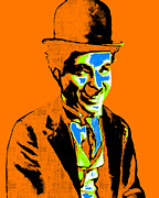 Laughing Digital Art Framed Prints - Charlie Chaplin 20130212p28 Framed Print by Wingsdomain Art and Photography