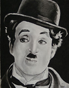Black Top Pastels Framed Prints - Charlie Chaplin Framed Print by Aaron Balderas