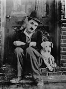 Movies Photo Metal Prints - Charlie Chaplin Metal Print by Sanely Great