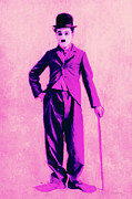 Vaudeville Prints - Charlie Chaplin The Tramp 20130216 Print by Wingsdomain Art and Photography