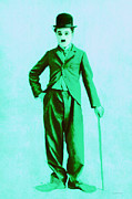 Laughing Digital Art Prints - Charlie Chaplin The Tramp 20130216m150 Print by Wingsdomain Art and Photography