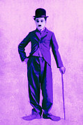 Laughing Digital Art Prints - Charlie Chaplin The Tramp 20130216m40 Print by Wingsdomain Art and Photography