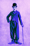 Laughing Digital Art Prints - Charlie Chaplin The Tramp 20130216m60 Print by Wingsdomain Art and Photography