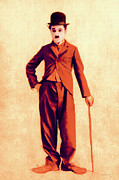 Laughing Digital Art Prints - Charlie Chaplin The Tramp 20130216p68 Print by Wingsdomain Art and Photography