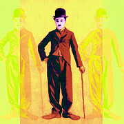 Charlie Chaplin The Tramp Three 20130216p30 Print by Wingsdomain Art and Photography