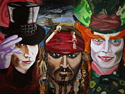 Alice In Wonderland Paintings - Charlie Jack Hatter by Barbara Giuliano