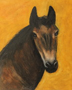 Animal Portrait Pastels - Charlie by Jeanne Fischer