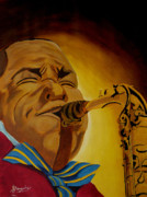 Jazz Painting Originals - Charlie Parker-Legends of Jazz by Anthony Dunphy