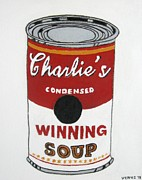 Charlie Sheen Soup Print by Venus