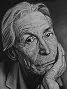 Mick Jagger Painting Metal Prints - Charlie Watts Metal Print by Steve Hunter