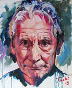 Guitarists Painting Originals - Charlie Watts by Tachi Pintor