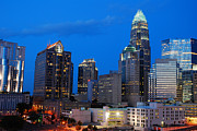 James Kirkikis Art - Charlotte at Night by James Kirkikis