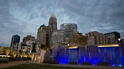 Charlotte Photo Prints - Charlotte City Lights Print by Serge Skiba