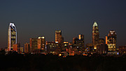 Dnc Framed Prints - Charlotte City Skyline at Sunset Framed Print by Kevin McCarthy