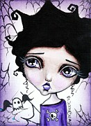 Spooky Card Mixed Media - Charlotte by Lizzy Love of Oddball Art Co