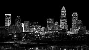 Charlotte Photo Prints - Charlotte Night v2 Print by Chris Austin