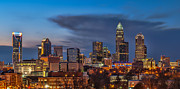 Uptown Charlotte Framed Prints - Charlotte North Carolina Framed Print by Brian Young