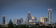 Skyline Photography Framed Prints - Charlotte Skyline - Clear Evening Framed Print by Brian Young