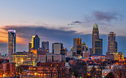 Uptown Charlotte Photos - Charlotte Sunset by Brian Young